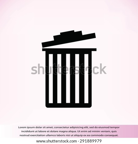trash icon - stock vector