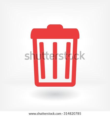 Trash . line vector icon - stock vector
