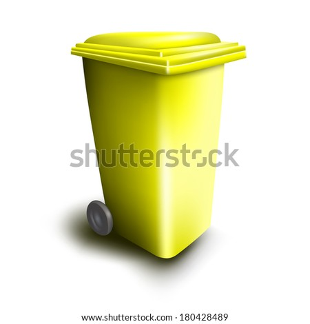 trash on white background