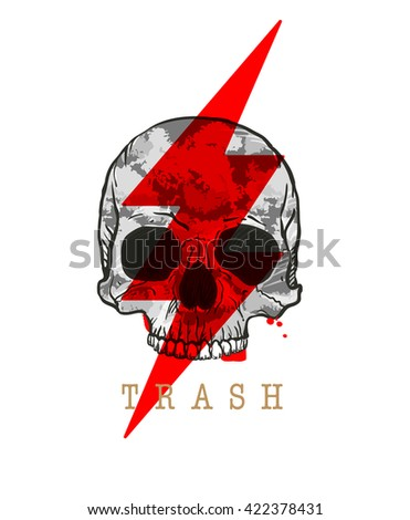 Trash Skull Icon.