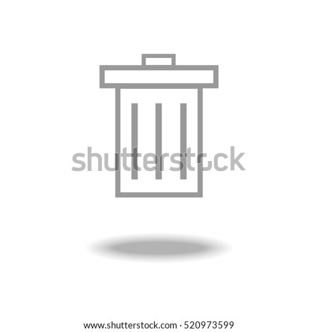 Trash vector icon.
