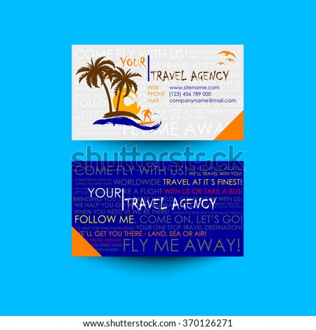 Travel agency business card template logo stock vector 2018 travel agency business card template logo design idea accmission Image collections