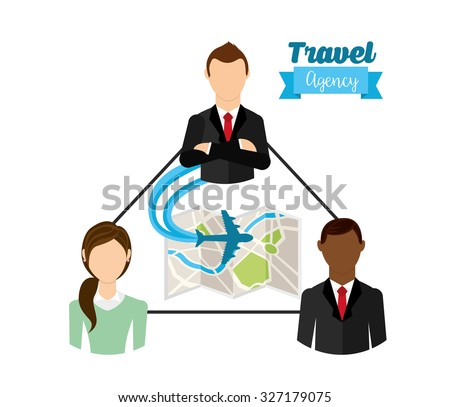 travel agency design, vector illustration eps10 graphic  - stock vector