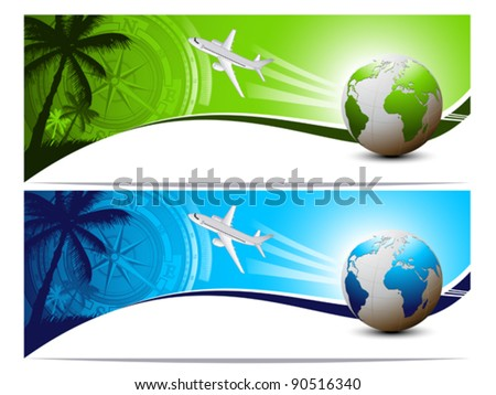 Travel and holiday banners - stock vector