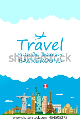 Travel and tourism around the world. Landmark. Vector illustration, flat modern design. - stock vector