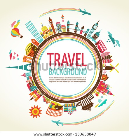 Travel and tourism background and infographic