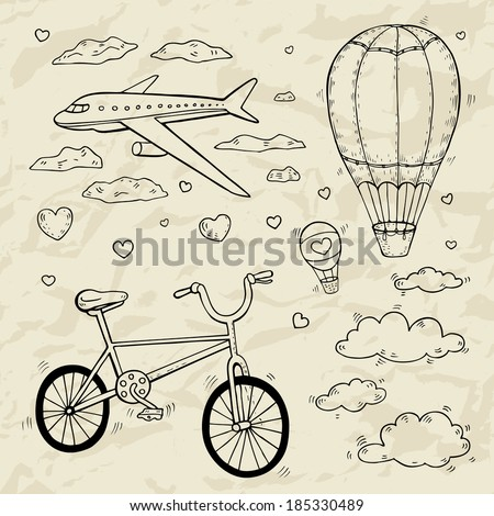 Travel and tourism illustration.  - stock vector