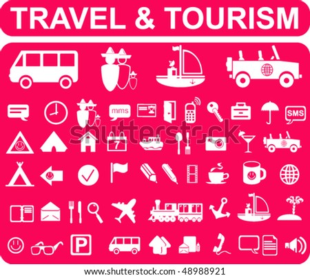 Travel and Tourism Signs - stock vector