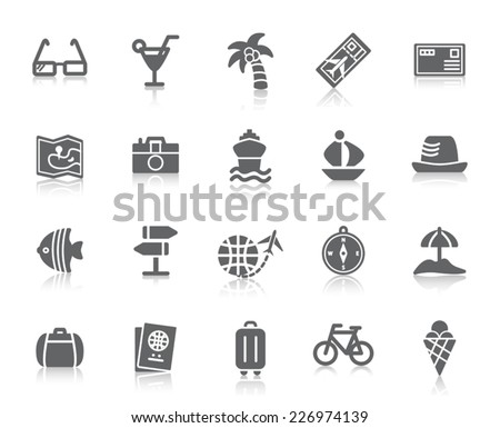 Travel and Vacation Icons - stock vector