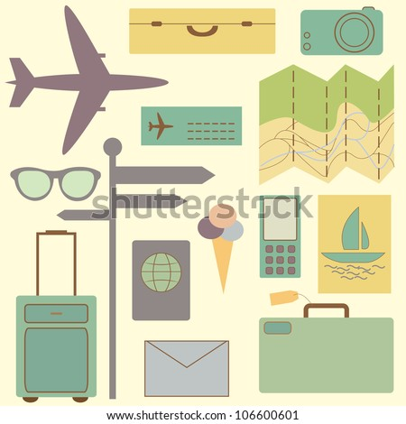 Travel and vacation symbols