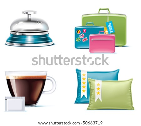 Travel and vacations icons. Part 4 - stock vector