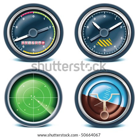 Travel and vacations icons. Part 5 - stock vector