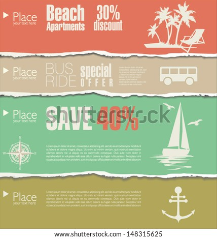 Travel background - stock vector