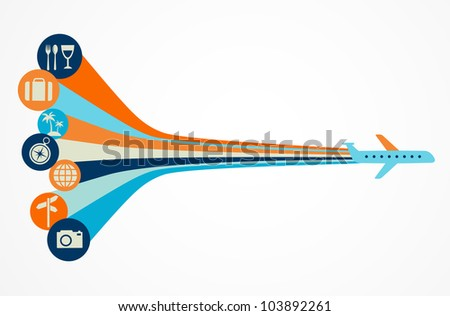 Travel background - vector illustration - stock vector