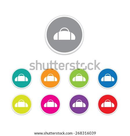 travel bag icon button set, vector illustration - stock vector