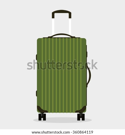 Travel bag vector illustration. Travel bag isolated on background. Travel bag symbol. Travel bag. Travel bag for traveling. Travel bag vector. Summer time, vacation, travel - stock vector