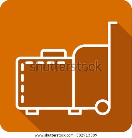 Travel baggage icon.  - stock vector