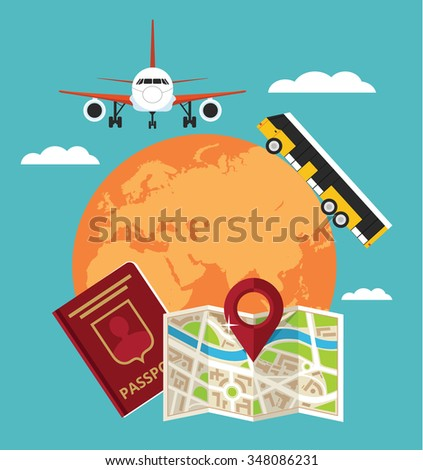Travel banner. Vector flat illustration - stock vector