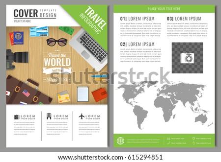 Travel Brochure Design Template Travel Tourism Stock Vector