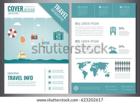 Travel Brochure Design Template Travel Tourism Stock Vector 2018