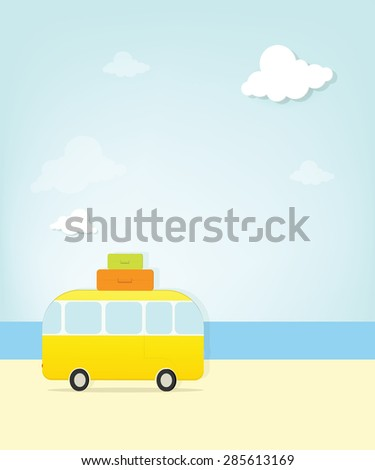 travel bus  - stock vector