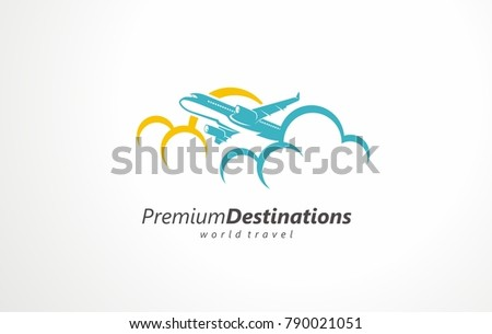 Travel By Plane In An Attractive Tourist Place Going On Holiday At A Popular Destination