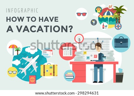 Travel by plane. Vacation summer travel icon set. Summer, holiday, umbrella, plain, fly, baggage, sea, bag, clock, palm, globe, map, travel, calendar, interface icons. Logo icons. Vector illustration. - stock vector