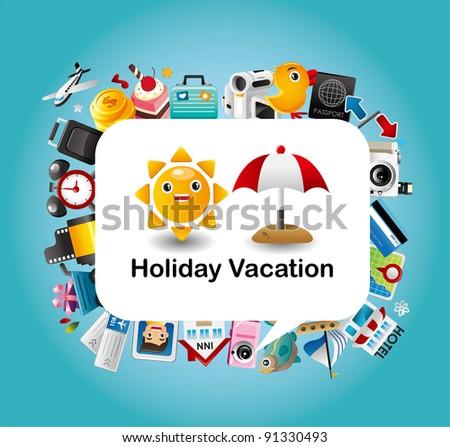 Travel card - stock vector