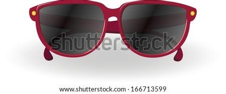 Travel cartoon sunglasses - stock vector