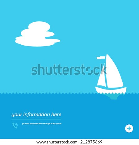 Travel  concept background design layout for poster flyer cover brochure - stock vector