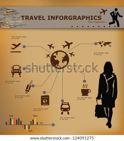 Travel concept,transportation,inforgraphics,vector - stock vector