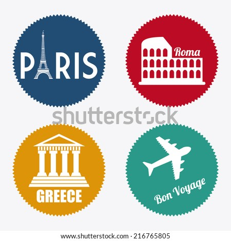 travel design over white  background vector illustration - stock vector