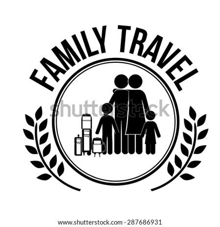 travel design over white background, vector illustration - stock vector