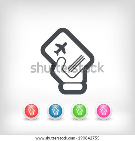 Travel document - stock vector