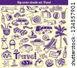 Travel Doodles Collection Vector Set - stock vector
