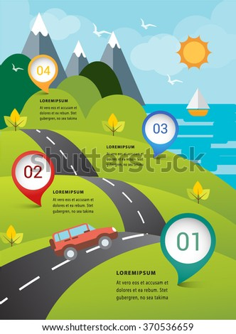 Travel eco on road nature  concept infographic . - stock vector
