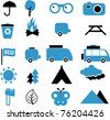 travel & ecology icons, signs, vector illustrations - stock vector