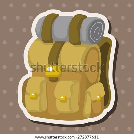 Travel equipment backpack theme elements - stock vector