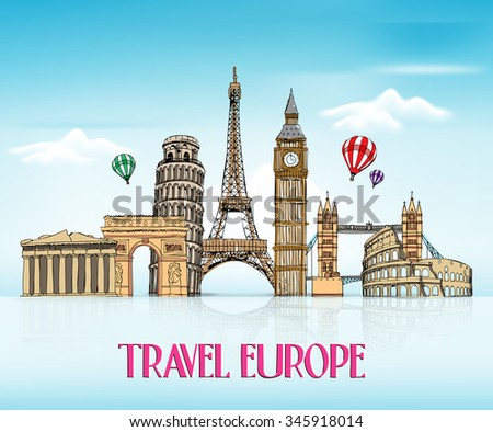 architectural drawings of famous buildings. Fine Drawings Travel Europe Hand Drawing Famous Landmarks Stock Vector 345918014   Shutterstock Intended Architectural Drawings Of Buildings I