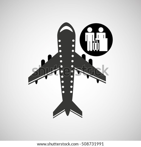 travel flying concept check in airport design, vector illustration  graphic