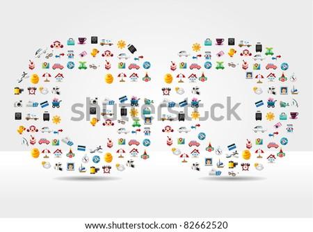 Travel Go card - stock vector