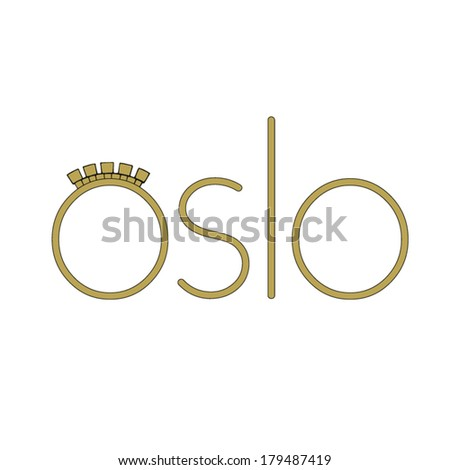 Travel Icon representing the European Norwegian city of Oslo - stock vector