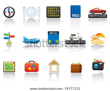 Travel Icon Set. Easy To Edit Vector Image. - stock vector