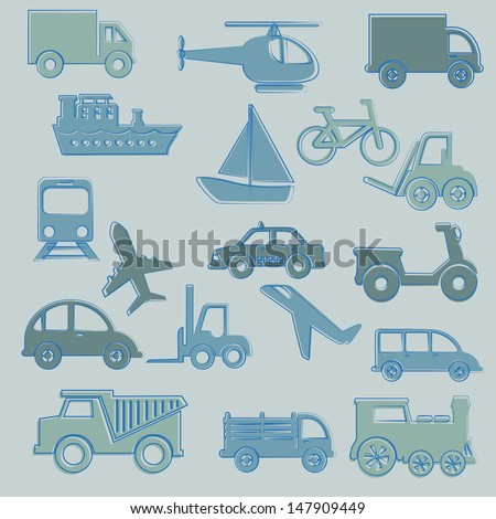 travel icons over blue background vector illustration   - stock vector