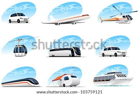 travel icons set  (#3) - stock vector