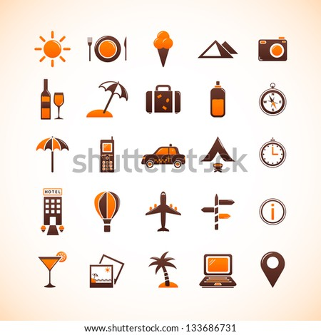 Travel Icons. Set 1 - stock vector