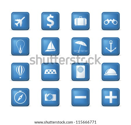 Travel icons set. Vector illustration