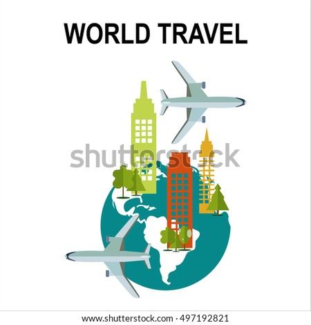 Travel illustration design,vector