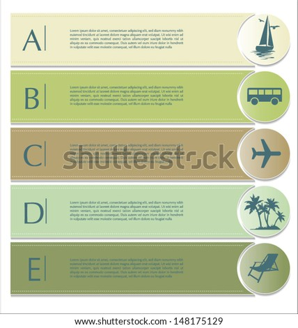 Travel infographics options banner - stock vector