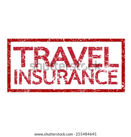 Travel insurance  word  - stock vector